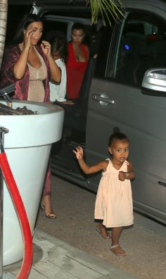 Kim Kardashian and North West out to dinner in St. Barts - August 19 2015