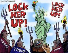 Crazy Eddie's Motie News: Trump threatens to 'Lock Her Up!'