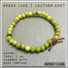 Jade is an ancient stone that has historically been used to attract love.  Jade is said to bless whatever it touches, serving mankind across the globe for nearly 6,000 years. .....Bracelets womens mens I Beaded & Charm Yoga Mala I Meditation & Mantra I Spiritual | karma arm. Green Jade. LOA. Law of Attraction.