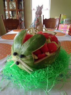Fruit salad at a Easter Party #easter #party