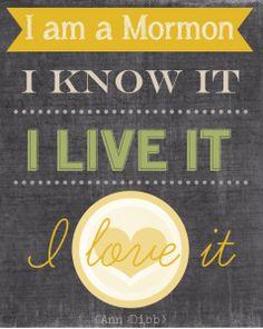 Ann Dibb October 2012 Talk: I'm a Mormon. I know it, I live it, I love it.