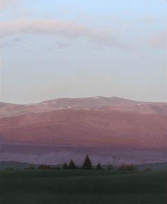 """Brett Scheifflee - """"Waking To Find"""" Spring 12×15 oil on panel"""
