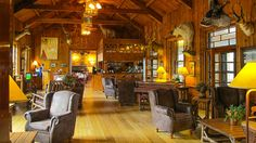 6. Interior of the Sylvan Lake Lodge.  Had coffee and dessert here on the patio.