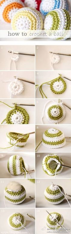 Artes com Capricho:  How to crochet a ball.    some of this site is in english.