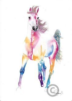 watercolor horse - Google Search Watercolor Horse, Watercolor Animals, Watercolor Paintings, Watercolors, Learn Art, Equine Art, Horse Art, Native American Art, Painting Inspiration