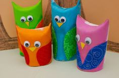 Super Fun Kids Crafts : Ten Great Toilet Paper Roll Crafts For Kids -  @Katie Barcalow Your husband would think you were nuts if you started making toilet paper owls!