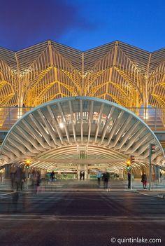 Gare do Oriente, Lisbon, Portugal. designed by the Spanish architect Santiago Calatrava and built by Necso