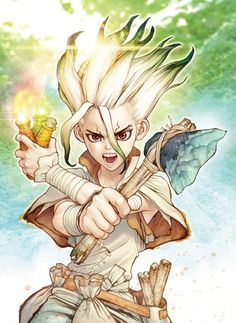 "TV Anime Adaptation of ""Dr. Stone"" in Production - Taylor Hallo - Taylor Swift taking show anime and movies Otaku Anime, All Anime, Manga Anime, Anime Art, Touka Wallpaper, Drawing Faces, Art Drawings, Pencil Drawings, Stone Wallpaper"