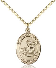Edith Stein Pendant with 18 Gold Filled Lite Curb Chain Patron Saint of Martyrs//Loss of Parents 14kt Gold Filled St