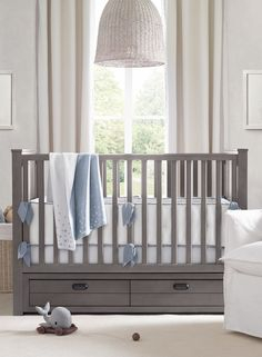 design idea: use multifunctional furniture pieces like our haven storage crib when space is at a premium.