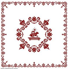 Weihkorbdecken Zählvorlage - Weihkorbdecken - Themen Cross Stitch Rose, Free Pattern, Diy And Crafts, Quilling, Decoupage, Embroidery, Sewing, Creative, Handmade