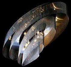 Original design chandelier / steel / handmade NEBULA: ELLIPTICAL by Adam Hoets  willowlamp
