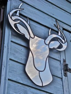 i HAVE TO HAVE this mirror! | Deer Mirror Stag Head Wall Mirror by fluxglass on Etsy, $410.00