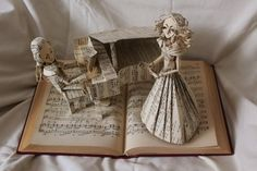 Opera Singer Book Sculpture by wetcanvas.deviantart.com on @deviantART