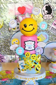 Emoji cake    emoji birthday cake emojis  see more at www.facebook.com/sugarpearlbakery