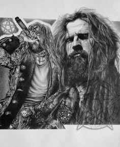 Rob Zombie Soul Crusher Original Sketch Prints - Poster Size - Black & White - Print of Highly-Detailed, Handmade Drawing By Artist Mike Duran   http://citymoonart.com/rob-zombie-soul-crusher-original-sketch-prints-poster-size-black-white-print-of-highly-detailed-handmade-drawing-by-artist-mike-duran/