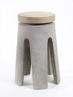 Stool Concrete Wood