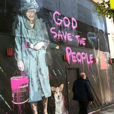 Cool graffiti, by Mr brainwash? Graffiti Art, Urban Graffiti, Banksy, Stencil, Mr Brainwash, Urbane Kunst, Street Artists, Public Art, Indie