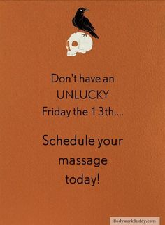 Friday the 13th massage