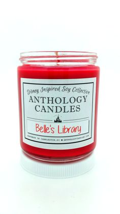 Belle's Library Candle Beauty and the Beast by AnthologyCandles