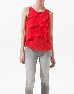 BLUSA VOLANTES - Camisas - Mujer - ZARA