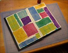 This will satisfy some of my need to play with text in art...Playing with Art Supplies: The Art of Carolyn S. Nehring: Tutorial: Checkered Art Journal Background
