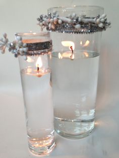 Water candles for the holiday!  Easy to make.