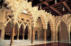 Palacio de la Aljafería, arte islámico en #Zaragoza, #Spain