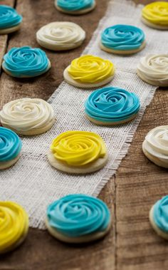 Easy Rose Swirl Cookies Decorated with Royal Icing with www.thebearfootbaker.com