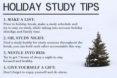 Holiday Study Tips to Keep You on Track #studytips #testprep #howto #teststudy