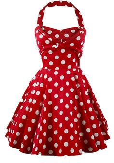 Ixia Women's Polka Dot A-Line Pinup Dress at Amazon Women's Clothing store: Red Polka Dot Dress