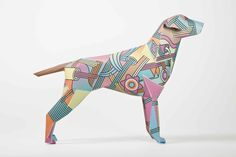 Gerald Project brings together 105 artists to create 120 paper dogs