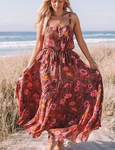 Boho maxi wrap dress \u2022 Bohemian gypsystyle organic dress \u2022 Hippie wrap boho dress \u2022 Goddess maxi sustainable dress \u2022 Prairie wrap boho dress