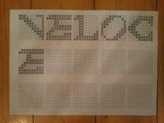 Veloce: ho cercato di usare molto le lettere inclinate per dare un senso meno statico e piu dinamico.
