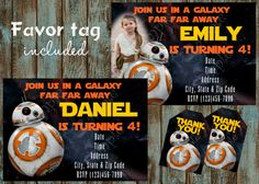 Star Wars Birthday Greeting Free ~ Care bears invitation free thank you card shops star wars party