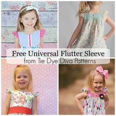 FREE Universal Flutter Sleeve Pattern and Tutorial - how to add flutters to patterns you already own includes downloadable pattern piece