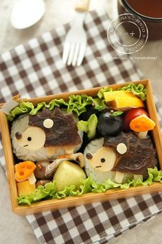 Hedgehog bento