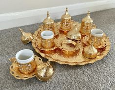 Coffee Gift Sets, Coffee Gifts, Turkish Coffee, Gold Colour, Color, Coffee Cups, Candle Holders, Candles, Coffee Lovers