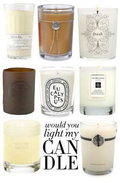 Candles! I'll never grow tired of Diptyque but here are some other faves...
