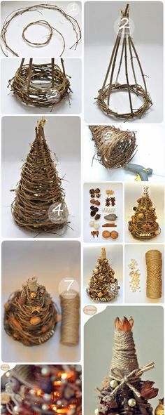 We& show you how to make a simple but beautiful braided Christmas tree decor . , We will show you how to make a simple but beautiful braided Christmas tree decoration! Christmas Tree On Table, Noel Christmas, Rustic Christmas, Xmas Tree, Winter Christmas, Christmas Tree Decorations, Christmas Ornaments, Natural Christmas Tree, Beautiful Christmas