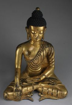 Buy online, view images and see past prices for Chinese Gilt Bronze Buddha Statue. Buddha Statues, March 6, High Resolution Photos, Chinese Painting, Art Auction, Bronze