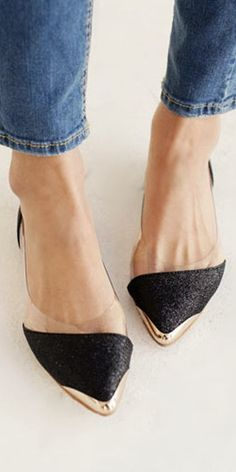 Pointed-Toe Flats Fancy   Everytime Fashion