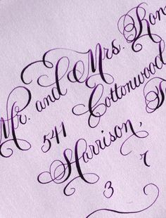 Calligraphy | Calligraphy by Jennifer example