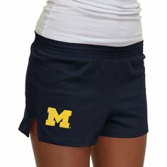 Michigan Wolverines Ladies New Soffe Shorts - Navy Blue