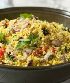 Lilek plněný kuskusem a kuřecím masem   Recepty na Prima Fresh Garam Masala, Grains, Fresh, Food, Diet, Essen, Meals, Seeds, Yemek