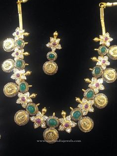 Gold Temple Coin Jewellery Set