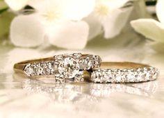 Art Deco Engagement Ring Old Mine Cut by LadyRoseVintageJewel