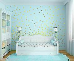 Set of 120 Metallic Gold Wall Decals Polka Dots Wall Decor - Confetti Decals in Home & Garden,Home Décor,Decals, Stickers & Vinyl Art | eBay