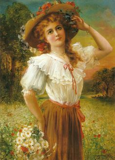 "Émile Vernon (French, 1872-1919), ""A summer beauty"" by sofi01, via Flickr"