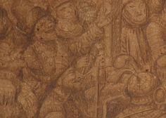 Onbekende tekening atelier Van Eyck gevonden, een van de grootste ontdekkingen vroege tekenkunst.   Detail Kruisiging van Christus - Jan van Eyck ca. 1440